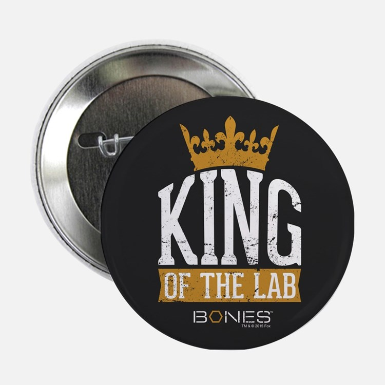 "Bones King of the Lab 2.25"" Button"