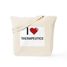 I love Therapeutics digital design Tote Bag