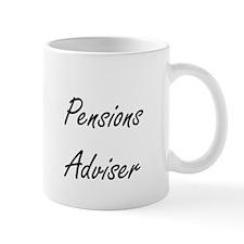 Pensions Adviser Artistic Job Design Mugs