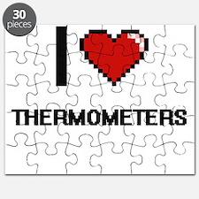 I love Thermometers digital design Puzzle