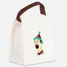 Clown Head Canvas Lunch Bag