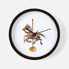 Palomino Carousel Horse 1 Wall Clock