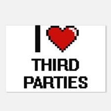I love Third Parties digi Postcards (Package of 8)