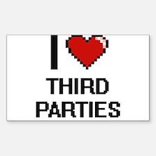 I love Third Parties digital design Decal