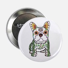 "Sugar Skull Frenchie 2.25"" Button"