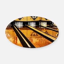 Unique Bowling Oval Car Magnet