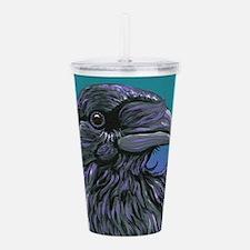 Crow Raven Bird Acrylic Double-wall Tumbler