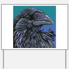 Crow Raven Bird Yard Sign