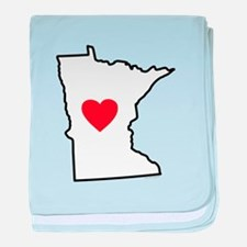 I Love Minnesota baby blanket