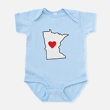 I Love Minnesota Infant Bodysuit