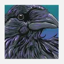 Crow Raven Bird Tile Coaster