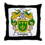 Cangas Family Crest Throw Pillow