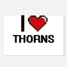 I love Thorns digital des Postcards (Package of 8)