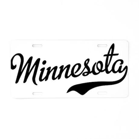 Minnesota Script Font Aluminum License Plate by USAswagger7