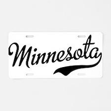 Minnesota Script Font Aluminum License Plate
