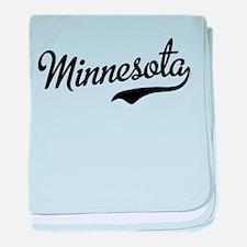 Minnesota Script Font baby blanket