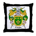 Canga Family Crest Throw Pillow