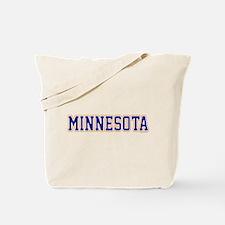 Minnesota Blue Jersey Font Tote Bag