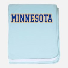 Minnesota Blue Jersey Font baby blanket