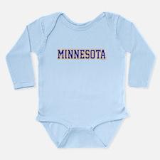 Minnesota Blue Jersey Long Sleeve Infant Bodysuit
