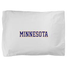 Minnesota Blue Jersey Font Pillow Sham