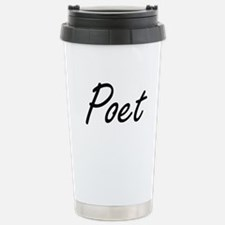 Poet Artistic Job Desig Travel Mug