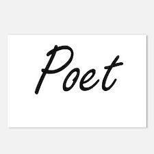 Poet Artistic Job Design Postcards (Package of 8)