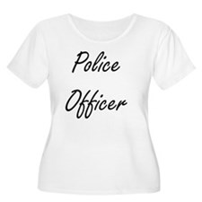 Police Officer Artistic Job Desi Plus Size T-Shirt