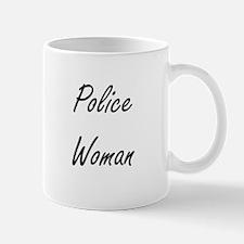 Police Woman Artistic Job Design Mugs
