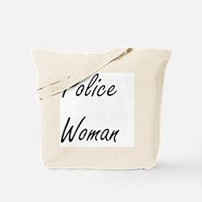 Police Woman Artistic Job Design Tote Bag