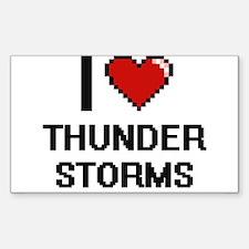I love Thunder Storms digital design Decal