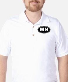 Minnesota MN Euro Oval Golf Shirt