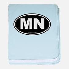 Minnesota MN Euro Oval baby blanket
