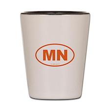 Minnesota MN Euro Oval Shot Glass