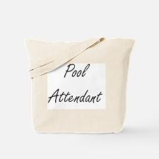Pool Attendant Artistic Job Design Tote Bag