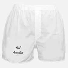 Pool Attendant Artistic Job Design Boxer Shorts