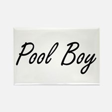 Pool Boy Artistic Job Design Magnets