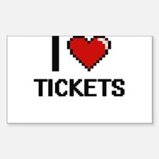I love Tickets digital design Decal