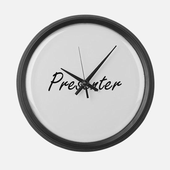 Presenter Artistic Job Design Large Wall Clock