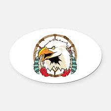 Eagle Dream Catcher Oval Car Magnet