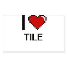 I love Tile digital design Decal
