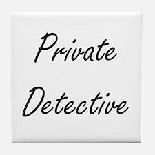 Private Detective Artistic Job Design Tile Coaster