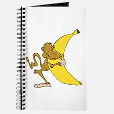 Silly Monkey Hugging Banana Journal