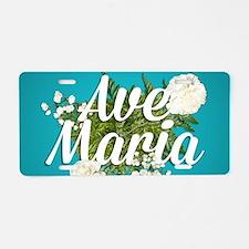 Ave Maria Aluminum License Plate