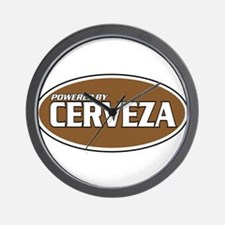 Powered By Cerveza Wall Clock