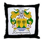 Campoamor Family Crest  Throw Pillow