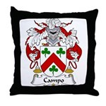 Campo Family Crest Throw Pillow