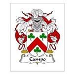 Campo Family Crest Small Poster