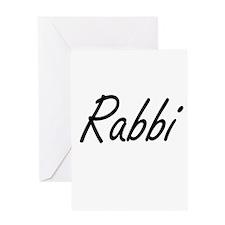 Rabbi Artistic Job Design Greeting Cards
