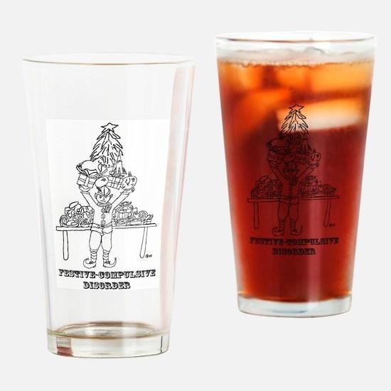Festive-Compulsive Pint Glass